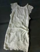Koronka zjawiskowa sukienka wesele ślub cywilny XS...