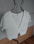 Sweter krótki biały ecru w rozmiarze M...