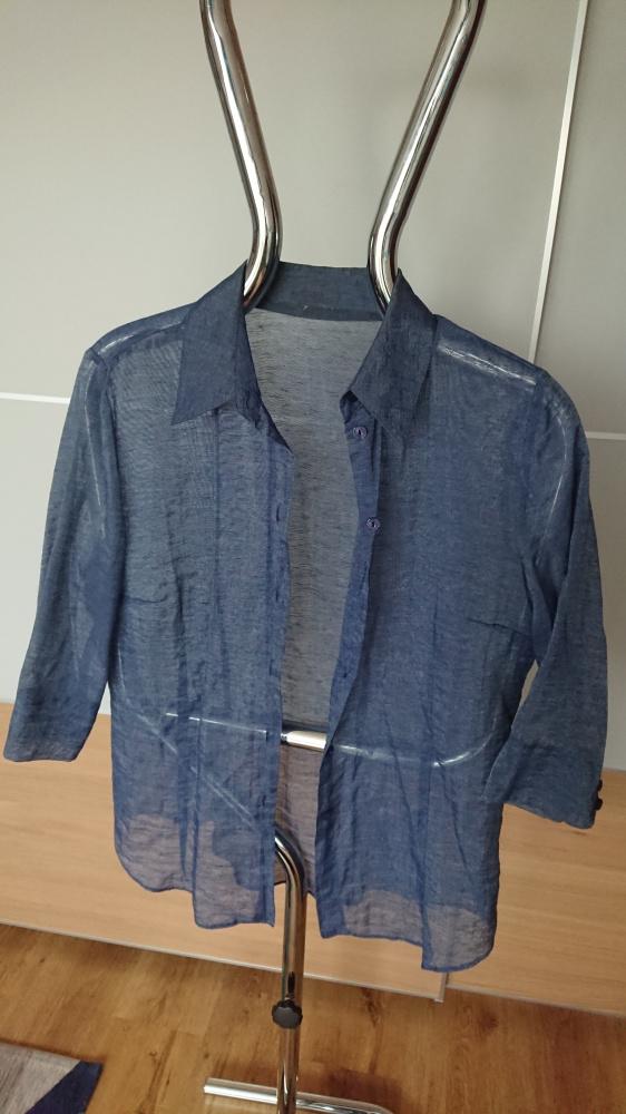 Koszula półprzezroczysta niebieska w rozmiarze M...