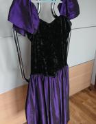 Oryginalna suknia fioletowoczarna rozmiar S...