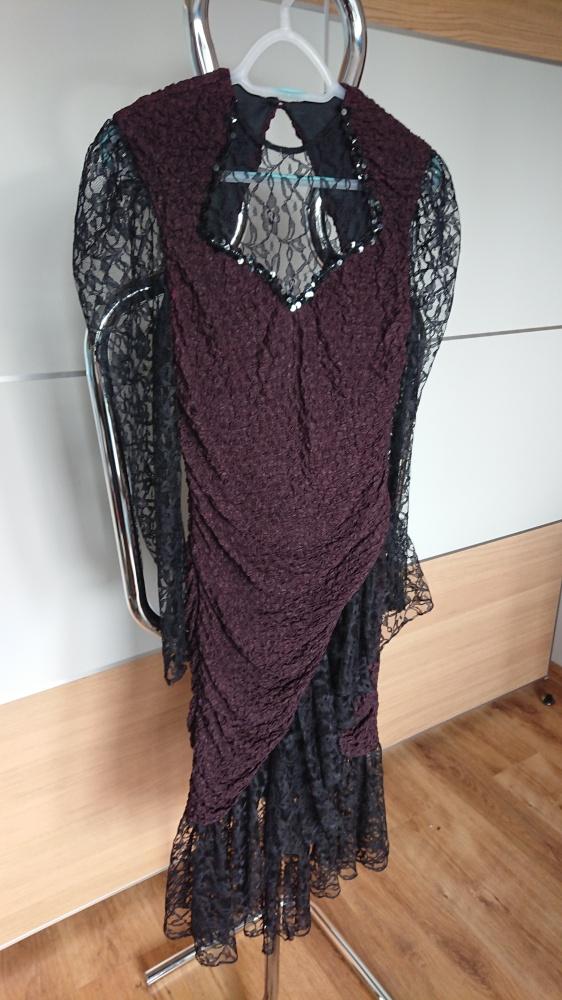 Suknia wieczorowa elegancka z koronką rozmiar S