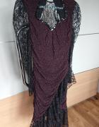 Suknia wieczorowa elegancka z koronką rozmiar S...