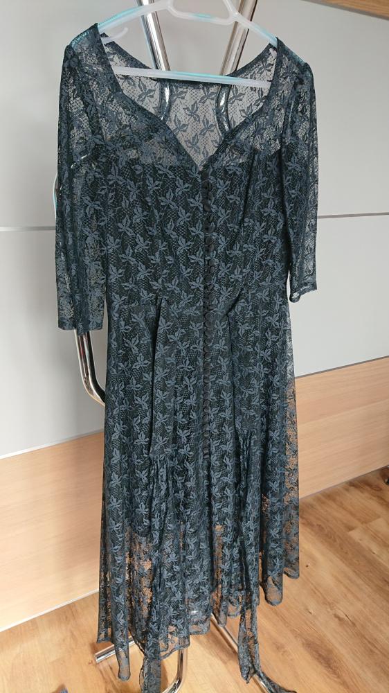 Suknia wieczorowa elegancka grafit rozmiar M