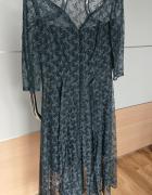 Suknia wieczorowa elegancka grafit rozmiar M...