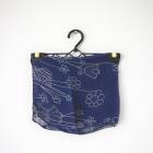 Granatowa chustka apaszka w kwiaty wzory retro vintage