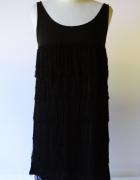 Sukienka Czarna L 40 Cubus Frędzle Frędzelki Wizytowa...