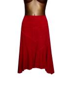 Czerwona Spódnica Sztruksowa 40 L Bawełna...