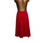 Czerwona Spódnica Sztruksowa 40 L Bawełna