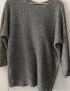 Sweter kimono oversize XL szary...