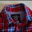 5 10 15 koszula w czerwoną kratę dla chłopca rozmiar 92