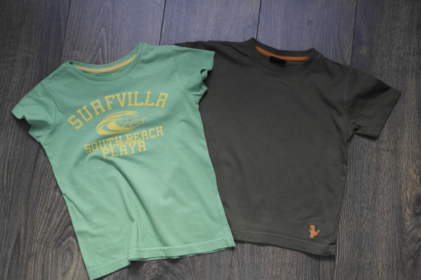 Bluzki dwie bawełniane 98 110