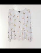 Bluzka Reserved 44 2XL paski kwiaty floral wiskoza...