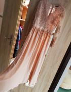 Długa suknia złoto kremowa Emo rozmiar M raz założona...