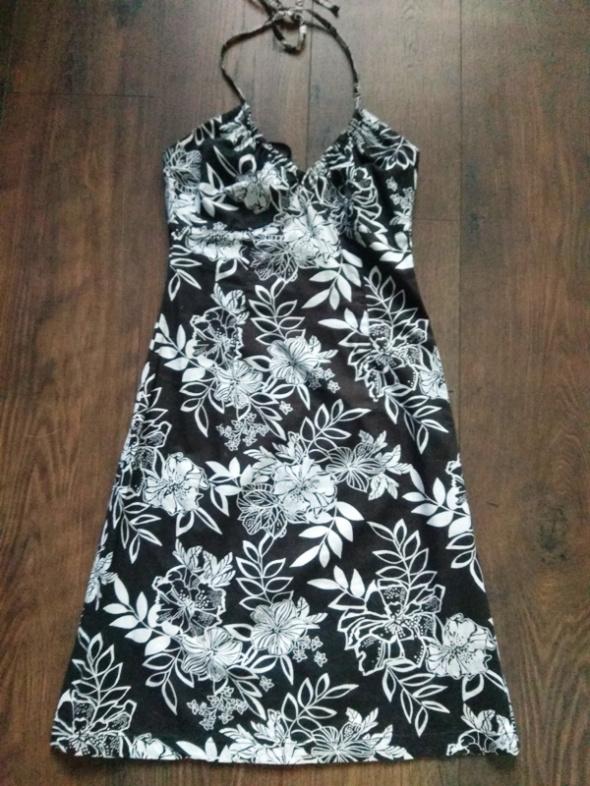 Sukienka czarno biała na szyję H&M 34 XS...