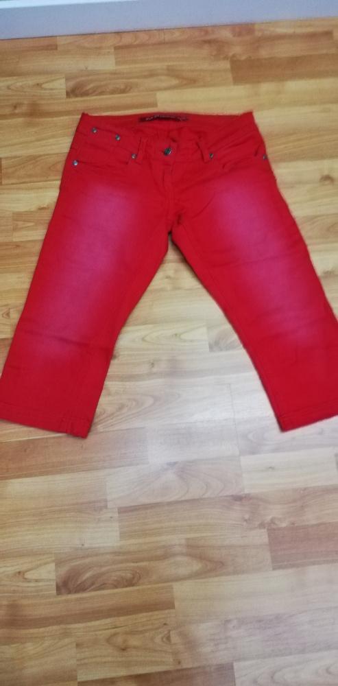 Spodnie Czerwone rybaczki S 36