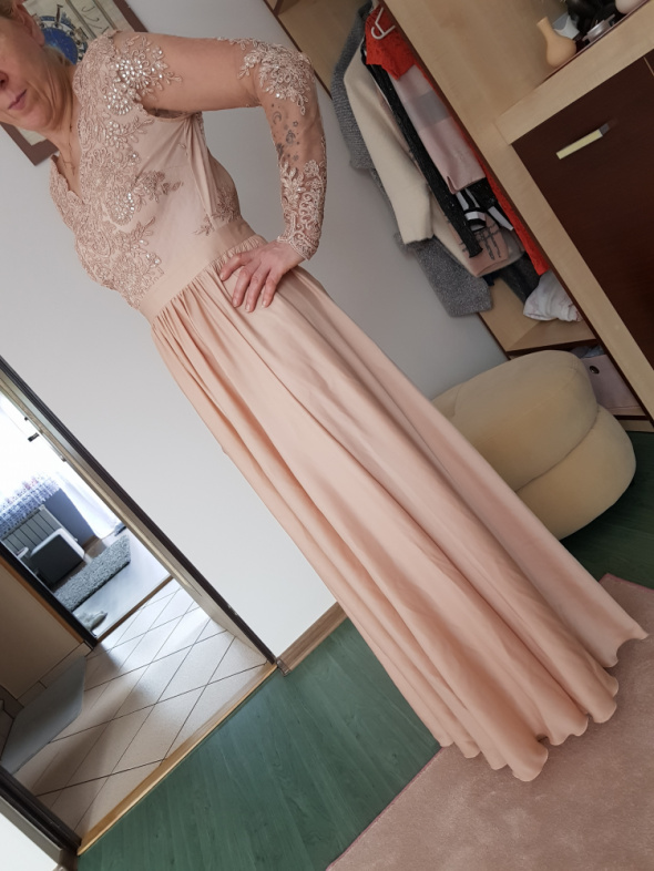 Suknia złoto beżowa EMO rozmiar M