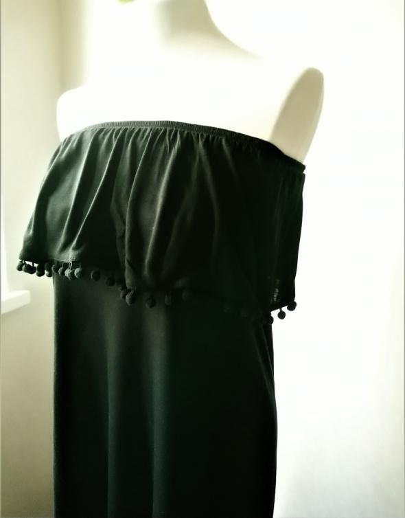 Długa sukienka z czarnej dzianiny M H&M...