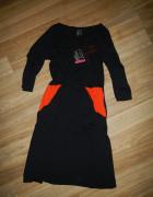 Sukienka dresowa S WEIZ dunska z dl rekawem nowa