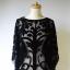 Pareo Czarne Zara M 38 Tłoczony Wzór Nietoperz Sukienka