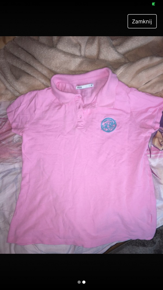 różowa koszulka polo house