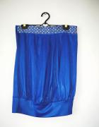 NOWY niebieski top tunika Tally Weijl disco srebrna aplikacja...