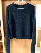 Błyszczący gruby sweter Sinsay L