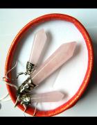 Kwarc różowy elegancka biżuteria zestaw...