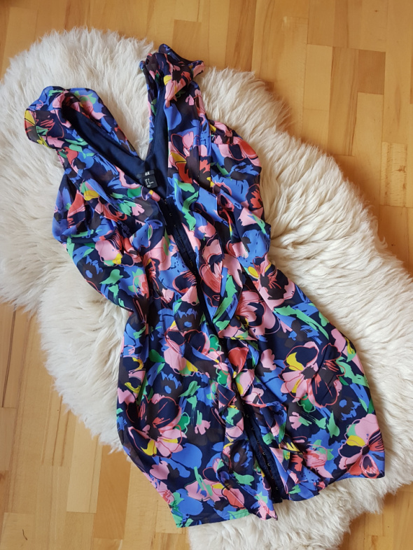 Kolorowa sukienka falbanki H&M 36...