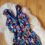 Kolorowa sukienka falbanki H&M 36
