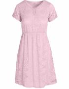 Różowa koronkowa Sukienka Pudrowy róż S M...