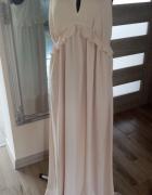 maxi sukienka 42 XL ecru perłowa