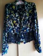 Koszula w kwiatowy deseń z koronką...