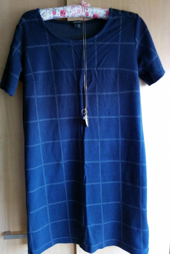 Suknie i sukienki Granatowa sukienka w kratę
