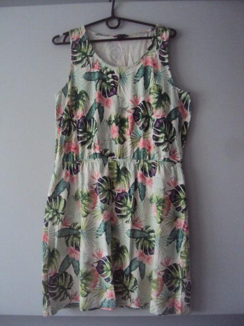 bawełnina sukienka w kwiatuszki