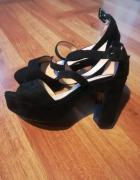 Czarne sandały idealny stan 37...