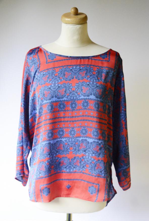 Bluzka Zara L 40 Wzory Boho Elegancka Wzorki Czerwona