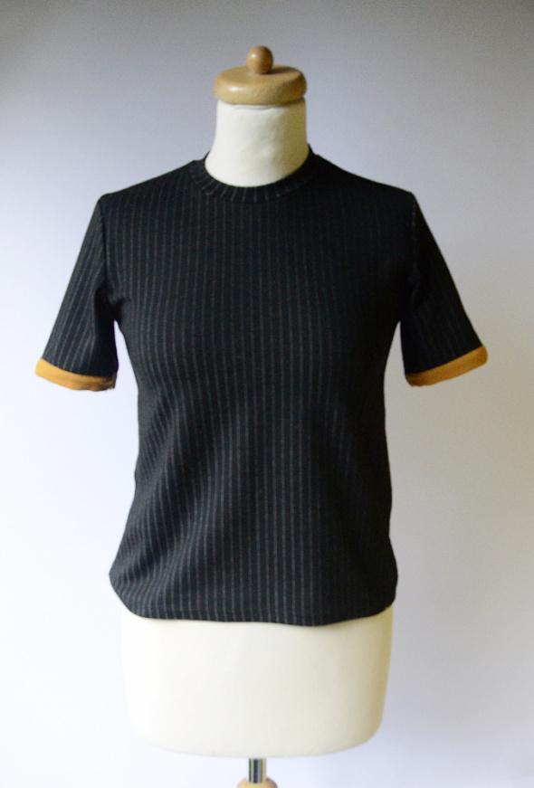 Bluzka Czarna Paski Top Zara S 36 Paseczki Pasy