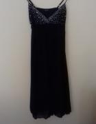 Granatowa wieczorowa sukienka...
