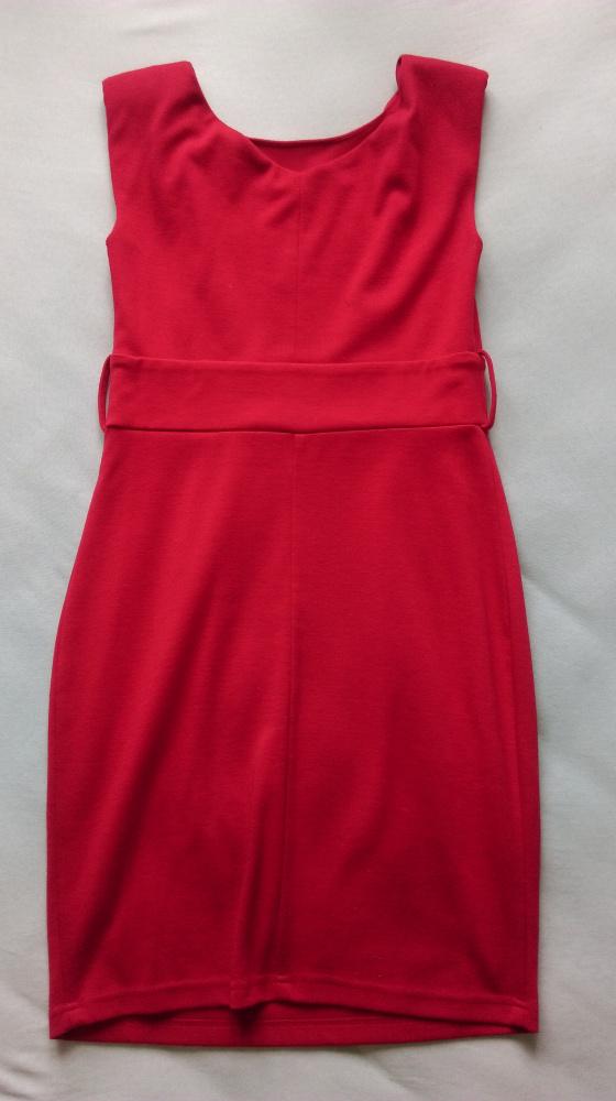 Suknie i sukienki czerwona dzianinowa sukienka bombka