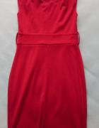 czerwona dzianinowa sukienka bombka...