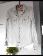 Wrangler koszula jeansowa marmurkowa jasny jeans...