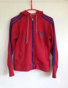 Bluza Adidas używana tania M L 38 40 czerwona niebieskie paski...