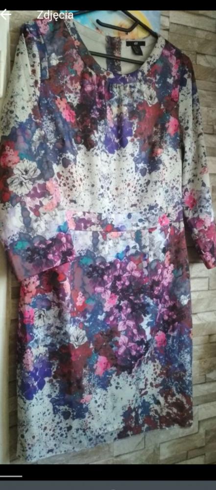 Piękna kolorowa sukienka 40 H&M wzory