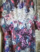 Piękna kolorowa sukienka 40 H&M wzory...