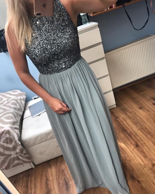 Nowa sukienka wieczorowa cekiny S