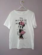 Biały t shirt z Myszką Minnie...