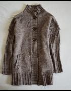 BIAGGINI gruby ciepły sweter wełna i alpaka rozmiar 40 L...
