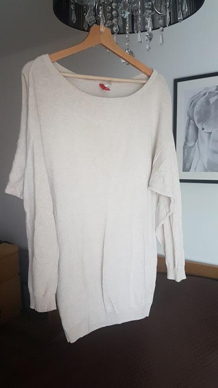 Bluzka H&M Beżowa oversize...