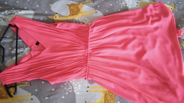 Piękna malinowa sukienka 36 lato zwiewna żywe kolory...