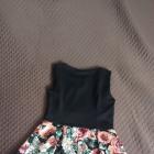 Sukienka rozkloszowana w kwiaty 38 M
